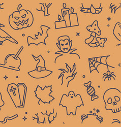seamless background with traditional halloween vector image