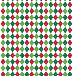Seamless Christmas Abstract Pattern with Rhombus vector