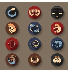 Set of zodiac icons vector