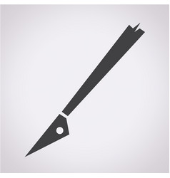 slice tool icon vector image