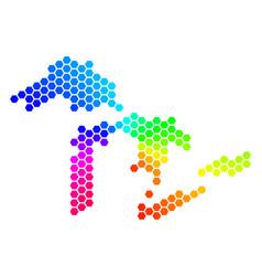 Spectrum hexagon great lakes map vector