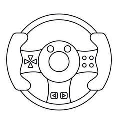 steering wheel video game thin line vector image