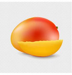 sweet mango isolated transparent background vector image