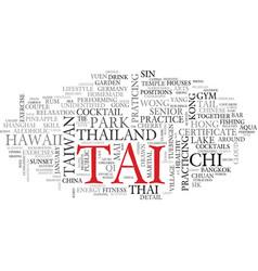 Tai word cloud concept vector