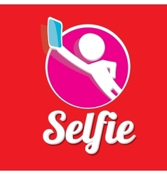 Taking Selfie Photo on Smart Phone concept icon vector image
