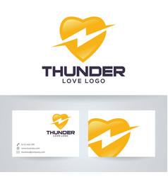 Thunder love logo design vector