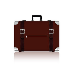 travel bag with belts in brown color four variant vector image