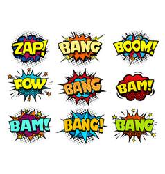 comic cartoon book bubbles loud exlosion sound vector image
