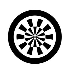 darts target isolated icon vector image vector image