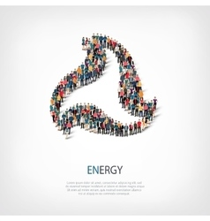 energy people sign 3d vector image vector image