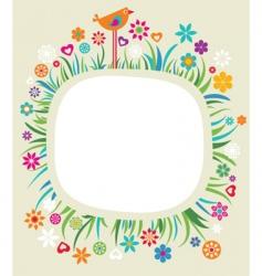 floral boarder vector image vector image