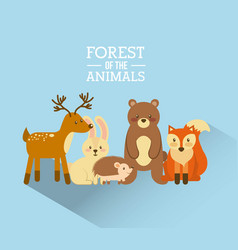 forest and animals wildlife natural vector image vector image