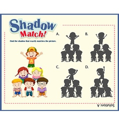 Game template with shadow matching children vector