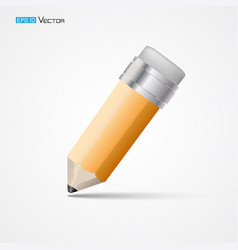 pencil with eraser isolated 2 vector image