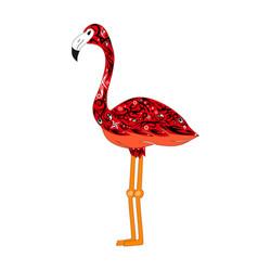 red flamingo vector image vector image