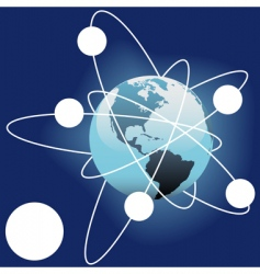 space satellites vector image