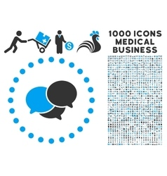 Webinar Icon with 1000 Medical Business Symbols vector image vector image