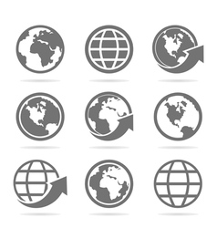 World an icon vector image vector image