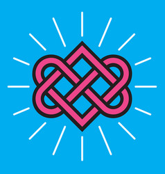 celtic knot love design vector image