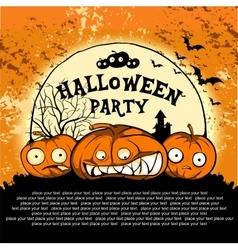 cute pumpkin poster vector image
