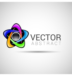 logo shape set 3d style element design abstract vector image vector image