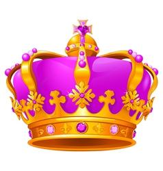 Magic crown vector image vector image
