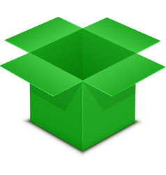 Open green box on white vector image vector image