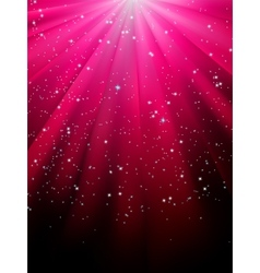 Stars on red striped background EPS 8 vector image