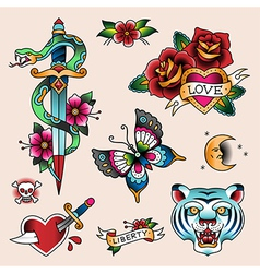 tattoo love vector image vector image