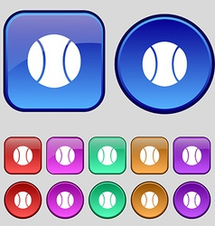 baseball icon sign A set of twelve vintage buttons vector image