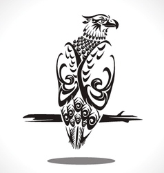 Eagle tatto art vector