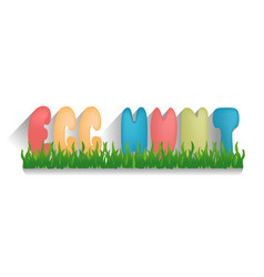 easter with quote egg hunt on vector image