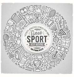 hand drawn set of sport cartoon doodle vector image vector image
