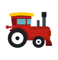 red toy train icon flat style vector image