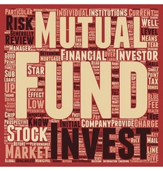 Stock Market Know Mutual Funds text background vector image vector image