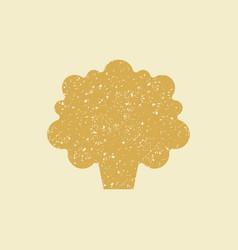 stylized flat icon of a cauliflower vector image
