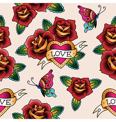 tattoo love pattern vector image