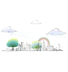 Townscape Drawing vector image vector image