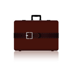 travel bag with belts in brown color three variant vector image vector image