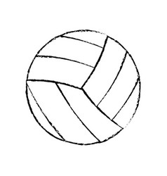 volleyball sport game icon sketch vector image vector image