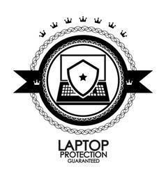Black retro vintage label tag badge laptop vector image