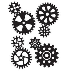Cogs and gears interlocking design vector