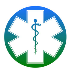 medical symbol of the emergency or star of life vector image
