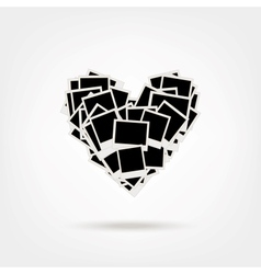 Polaroid Heart Shape Photos vector image vector image