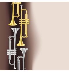 trumpet background vector image