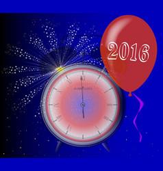 2016 clock vector image