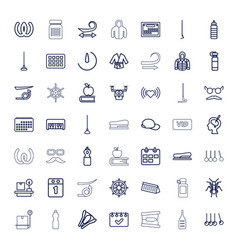 49 long icons vector
