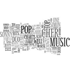 Aka duos in pop music text word cloud concept vector