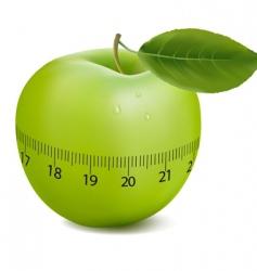 Apple with meter vector