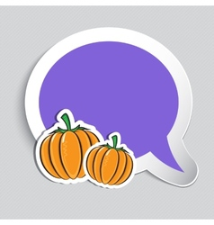 Autumn sticker with pumpkins vector